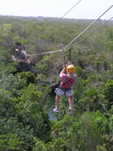 Debra on Zip-Line at Maya Zip-Line - Riviera Maya, Mexico